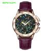 SANDA роскошные кожаные кварцевые часы женские часы женские женские наручные часы женские часы sekonda a361 m2