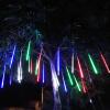 JULELYS 20CM 8 Метеоритный дождь Rain Tube Наружные светодиодные рождественские огни Свадебный сад String Lights Украшение Праздничное освещение usb 5m 50leds silver wire strip lights fairy christmas holiday wedding party 1pc