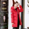Новая мода Зимняя куртка Long Parkas Теплый хлопок Мягкая пальто Молния Элегантные с капюшоном дамы Куртки Пальто Женская верхняя одежда пальто katerina bleska