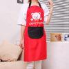 [Супермаркет] Джингдонг Рич резиденция (FOOJO) сушки моющихся кухонные фартуки корейских милые женщин повесить ткань фартуки с мультфильмом котом