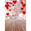 Sweet Heart Photo Background 5 * 7FT Vinyl Fabric Cloth Цифровая печать Свадебный фон S-3113