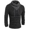 новой внешней торговли мужской моды, выключи воротник свитера бутик - drawstring хеджирования твердых свитер kniting свитер