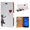 MOONCASE Sony Xperia Z5 Compact ( Z5 Mini ) ЧЕХОЛДЛЯ Flip Leather Foldable Stand Feature [Pattern series] /a11 чехол книжка sony scr44 для xperia z5 compact