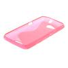 MOONCASE S - линия Мягкий силиконовый гель ТПУ защитный чехол гибкой оболочки Защитный чехол для Sony Xperia E4G ярко-розовый