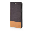 MOONCASE Canvas Design Leather Side Flip Wallet Pouch Stand Shell Back ЧЕХОЛ ДЛЯ Samsung Galaxy A7 Coffee mooncase soft silicone gel side flip pouch hard shell back чехол для samsung galaxy s6 grey