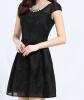 Lovaru ™ Корейские женщины летом с коротким рукавом платья тонкий дна кружева из органзы юбка женщины короткая юбка Скидки