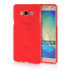 MOONCASE Transparent Soft Flexible Silicone Gel TPU Skin Shell Back ЧЕХОЛ ДЛЯ Samsung Galaxy A7 Red embossed tpu gel shell for ipod touch 5 6 girl in red dress