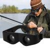 Портативный Стекло стиль Черный телескоп & лупа для рыбалки Туризм бинокль черный