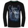 Causul Мужская одежда Night Wolf 3D животных Печатные майка Мужчины, черный хлопок Один-образным вырезом Slim Fit Хип-хоп Футболка Мужская одежда мужская футболка gildan slim fit fshng 1 lol 3040019