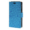 MOONCASE Little Witch Leather Flip Wallet Card Slot Stand Back чехол для Samsung Galaxy Xcover 3 SM-G388F Blue юбка strawberry witch lolita sk