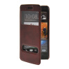 MOONCASE View Window Leather Side Flip Pouch Stand Shell Back ЧЕХОЛДЛЯ HTC One M7 Red roar korea noble leather stand view window case for iphone 7 4 7 inch orange