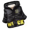 Детские Малыш Мальчик в девочке зимние теплые куртки медведь толстовка с капюшоном руно Пальто Верхняя одежда Вниз