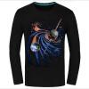 Causul Мужская одежда Night Wolf 3D животных Печатные майка Мужчины, черный хлопок Один-образным вырезом Slim Fit Хип-хоп Футболка Мужская одежда мужская одежда
