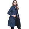 BURDULLY Lady Winter Vintage Denim Long Trench Coat для женщин Высококачественное европейское теплое пальто с капюшоном Осень Женское пальто
