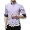 высокое качество mens платье рубашка длинные рукава хлопок мужского бизнес банкетов бренд Fashion официальные футболки слим мужчин случайные мягкие футболки футболки