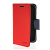 MOONCASE Classic cross pattern Leather Side Flip Wallet Card Pouch Stand Soft Shell Back чехол для Motorola Moto E Red newsets cross texture wallet leather stand shell for iphone 7 red