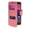 все цены на MOONCASE View Window Leather Side Flip Pouch Hard board Shell Back чехол для LG Google Nexus 5 Pink онлайн