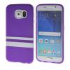 MOONCASE желе Цвет Мягкие гибкие силиконовый гель ТПУ Оболочка задняя крышка чехол для Samsung Galaxy S6 фиолетовый 0 7mm ultrathin protective aluminum alloy bumper frame case for iphone 5 5s silver