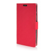 MOONCASE Leather Wallet Flip Card Slot Pouch Stand Shell Back ЧЕХОЛ ДЛЯ Motorola Moto Maxx XT1225 Red luxury stand flip