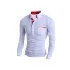 классики британского модного волны прилива не полнят точки мужчины с длинными рукавами и рубашки - поло m-xxxl