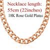 U7 Большой Коренастый Мужчины ожерелье розовое золото покрыло 11MM Толстая кубинская Цепочка Мужчины оптовой продажи ювелирных изделий