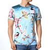 Модные мужские O-образным вырезом и птицей для печати Пуловеры