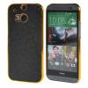 MOONCASE Flash Flake Skin золото Chrome Hard Back чехол для Cover HTC One M8 чёрный