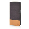 MOONCASE Canvas Design Leather Side Flip Wallet Pouch Stand Shell Back ЧЕХОЛ ДЛЯ Samsung Galaxy S6 Edge Coffee keymao luxury flip leather case for samsung galaxy s7 edge