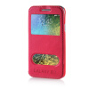 MOONCASE View Window High grade Leather Side Flip Pouch Stand Shell Back ЧЕХОЛДЛЯ Samsung Galaxy E7 Hot pink mooncase view window high grade leather side flip pouch stand shell back чехолдля samsung galaxy e5 e500 hot pink