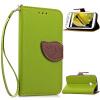 MOONCASE [оставляет магнитных] сальто пу кожаный бумажник карту почты от назад дело прикрытия Motorola Moto E (2nd Generation)