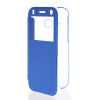 MOONCASE Ultra Thin Leather Side Flip Pouch Hard board Shell Back ЧЕХОЛДЛЯ HTC One 2 Mini( M8 Mini ) Blue чехол brando для htc touch hd mini pouch