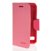 MOONCASE Classic cross pattern Leather Side Flip Wallet Card Pouch Stand Soft Shell Back чехол для Sony Xperia E1 Pink