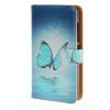 все цены на MOONCASE Microsoft Lumia 532 случая Голубая бабочка кожаный бумажник флип Слот для карты Кронштейн обложка чехол A 01