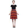 POPBASIC Женская высокий эластичный пояс Flare плиссе Онлайн Миди юбка юбка брюки плиссе