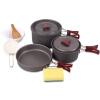 Красный лагерь на открытом воздухе кемпинга кухонная посуда кухонная посуда кухонная посуда 2-3 человек пикник посуда посуда Teapot Set кухонные столы diy fish balls фрикадельки инструмент кухонная посуда мясо b109