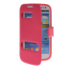 MOONCASE View Window Leather Side Flip Pouch Stand Shell Back ЧЕХОЛ ДЛЯ Samsung Galaxy S3 I9300 Hot pink mooncase view window high grade leather side flip pouch stand shell back чехол для samsung galaxy e5 e500 hot pink