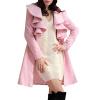 CT&HF Женщины Темперамент Элегантный сгущает Сладкий зимы пальто Pure Color шерстяные пальто контракту нагрудные Сельма Пальто пальто modus пальто