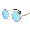 FEIDU мода Steampunk Goggles Sunglasses Women Men Brand Designer ретро Side Visor Sun Round Glasses Women Gafas Oculos De Sol feidu 2015 brand designer high quality metal sunglasses women men mirror coating лен sun glasses unisex gafas de sol