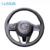LUNDA Black Leather Сделай сам автомобильный руль для Mazda CX-5 Mazda 3 2013-2016 Scion iA 2016 Mazda 6 2014-2016 автомобильный