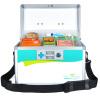 Longxing (Glosen) R8037 алюминиевого ящик для хранения 12 дюймов беспрокладочных бытовой аптечка longxing glosen b016 3 алюминиевый комплект двойной помощи 16 дюймов семейной медицины шкаф хранения коробка