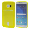 MOONCASE чехол для Samsung Galaxy S6 Edge Flexible Soft Gel TPU Silicone Skin Slim Durable With Card Slot Cover Yellow mooncase litchi skin золото chrome hard back чехол для cover samsung galaxy s6 edge красный
