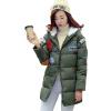 Зимние Женщины мультфильм хлопок проложенный с капюшоном куртки траншеи Длинные пальто Шинель Куртка куртка hogan куртки короткие