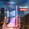 Luxury Transparent Phone Case For iPhone 7 iphone 6 case Electroplating Soft tpu Silicone Cover For iPhone X 6 6S 7 8 Plus newsets mercury flash powder tpu protector case for iphone 7 4 7 inch baby blue