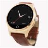 Смарт-часы-телефон Совместимость с iPhone и Android смартфон с кожаным ремешком, круглый экран, динамик