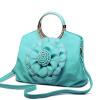 кожаные сумки бренды леди нового 2016 моды женщин сумку большой закрывается цветок сумку высокого качества сумку носить сумку бренды