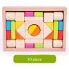 Новые деревянные игрушки для детей Деревянные красочные блоки Детские развивающие игрушки развивающие деревянные игрушки кубики овощи