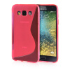 MOONCASE S - Line Soft Flexible Silicone Gel TPU Skin Shell Back ЧЕХОЛДЛЯ Samsung Galaxy E5 / E500 Hot pink embossed tpu gel shell for ipod touch 5 6 girl in red dress