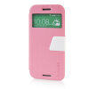 MOONCASE View Window Leather Side Flip Pouch Ultra Slim Shell Back ЧЕХОЛ ДЛЯ HTC One M8 Pink встраиваемая акустика speakercraft profile accufit ultra slim one single asm53101 2