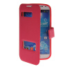 MOONCASE View Window Leather Side Flip Pouch Stand Shell Back ЧЕХОЛДЛЯ Samsung Galaxy S4 I9500 Hot pink xskn protective pu leather case cover stand w visual window for samsung galaxy s4 i9500 pink