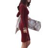 CT&HF Корейский женщин сексуальное платье способа женщин чистый цвет Элегантный Темперамент Сельма платье водолазку контракту трикотажное платье